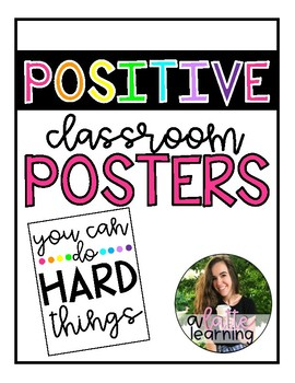 Colorful Positive Classroom Posters
