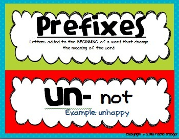 Colorful Prefix/Suffix Posters