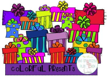 Colorful Presents Clip Art