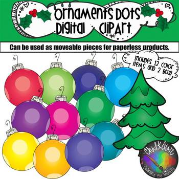 Colorful Ornaments with Dots Moveable PNG Graphics