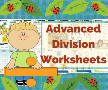 Colorful Printable Division Math Worksheets