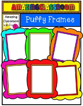 Colorful Puffy Frames Clip Art Set