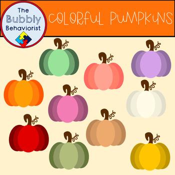 Colorful Pumpkin Clip Art