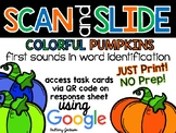 Colorful Pumpkin First Sounds in Words Scan and Slide QR C