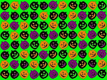 Colorful Pumpkin Halloween Background/Paper FREEBIE