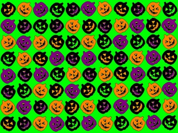 Colorful Pumpkin Halloween Background/Paper FREEBIE