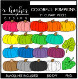 Colorful Pumpkins Clipart {A Hughes Design}
