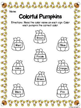 Colorful Pumpkins - Halloween Color Practice