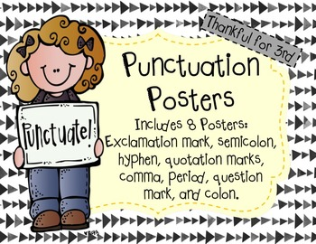 Colorful Punctuation Posters