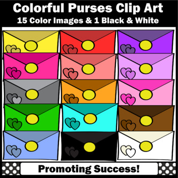 Colorful Purses Clip Art, Girl Clipart, Clutches SPS
