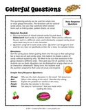 Colorful Questions Reading Comprehension Activity