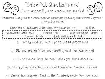 Colorful Quotation Marks