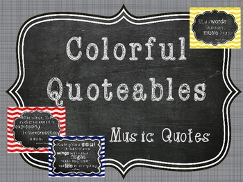 Colorful Quoteables Chevron, Music Quotes
