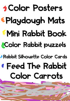 Colorful Rabbits Puzzles & Playdough Mats (sunnah learners)