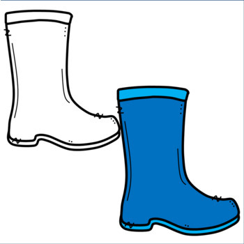 Colorful Rain Boot Clipart