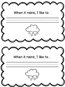 Colorful Rain Craft with Writing Prompt : Weather Activities : Spring Crafts