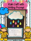 Colorful Rain Craft with Writing Prompt : Weather Activiti
