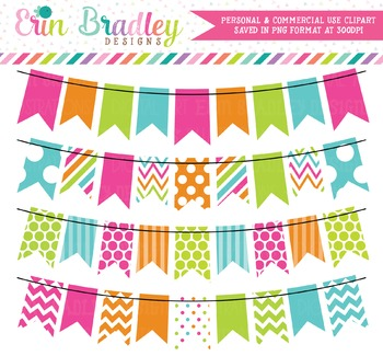 Colorful Rainbow Bunting Clipart
