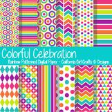 Colorful Rainbow Celebration Digital Paper/Backgrounds