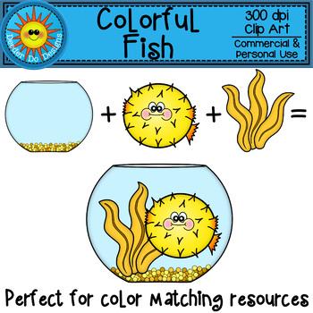 Colorful Rainbow Fish Clip Art