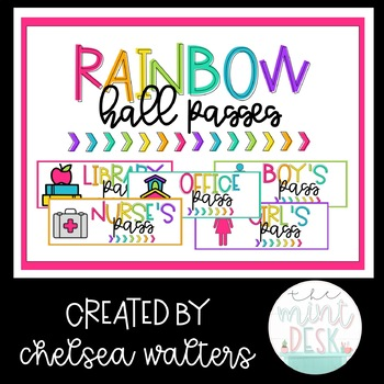 Colorful Rainbow Hall Passes