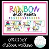 Colorful Rainbow Hall Passes