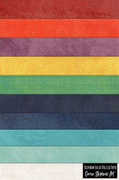 Colorful Rainbow Solid Background Papers with a soft watercolor texture