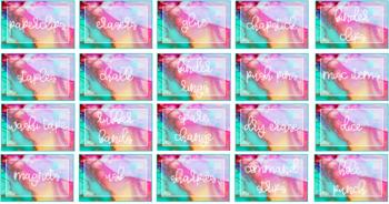 Colorful Rainbow Teacher Toolbox Labels