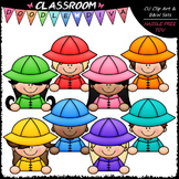Colorful Raincoat Topper Kids Clip Art - Toppers Clip Art