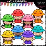 Colorful Raincoat Topper Kids Clip Art - Toppers Clip Art
