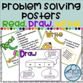 Word Problem Solving Strategy Posters using Read, Draw, Wr
