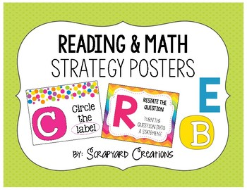 Colorful Reading & Math Strategy Posters