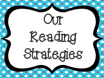 Colorful Reading Strategy Posters