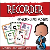Colorful Soprano Recorder Fingering Charts and Memory Game!