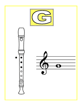 Colorful Recorder Fingering Signs