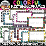 Colorful Rectangle Frames Clipart {Sellers Clipart}