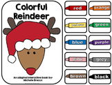 Colorful Reindeer- An Adapted Christmas Book on Colors {Autism, Early Childhood}