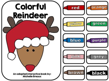 Colorful Reindeer- An Adapted Christmas Book on Colors {Au