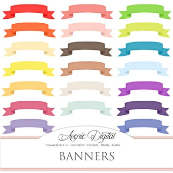 Colorful Ribbon Banners clip art - clipart