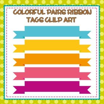 Colorful Ribbon Tags Clip Art