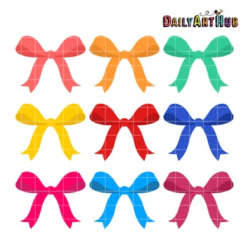 Colorful Ribbons Clip Art - Great for Art Class Projects!
