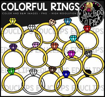 Colorful Rings Clip Art Bundle {Educlips Clipart}