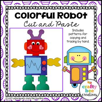 Colorful Robot Cut and Paste