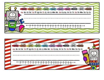Colorful Robot Nametags