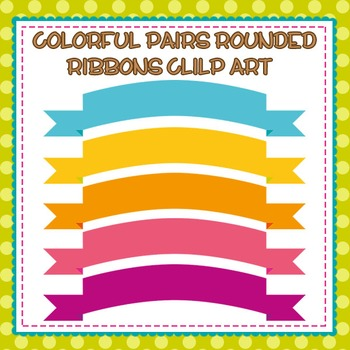 Colorful Rounded Ribbons Clip Art