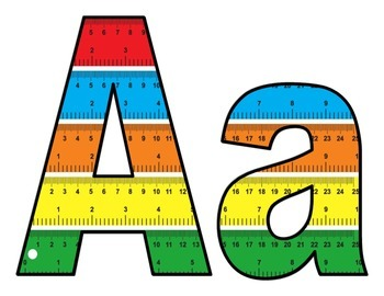 Colorful Ruler BB letters