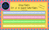 Colorful Rulers in Inches and Centimeters