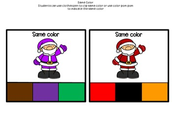 Colorful Santa Packet (reviewing and identifying colors)