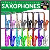 Colorful Saxophones Clip Art Set {Educlips Clipart}