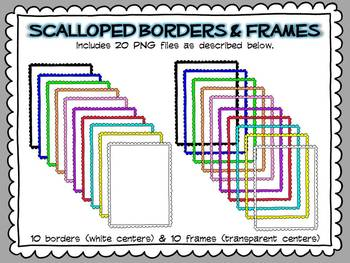 Colorful Scalloped Borders & Frames